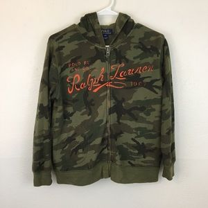 Polo Ralph Lauren Camo Hoodie Spell out S(8)